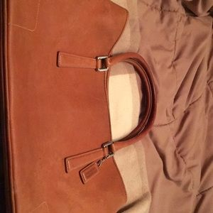 Camel brown Coach handbag used